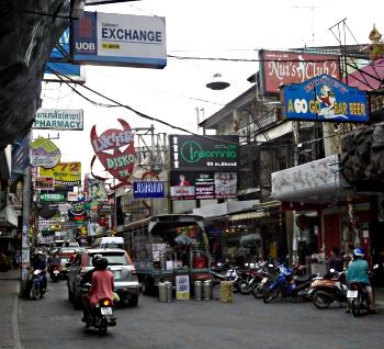 Pattayas Walking Street - oppefra